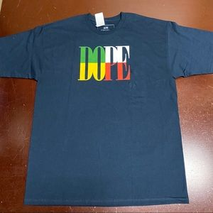 Dope Mens T-Shirt Blue Size XL Logo Graphic Tee